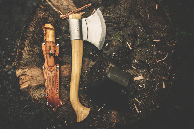 Axe bushcraft camping knife knife retro