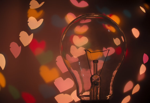 Bulb dark hearts idea lights