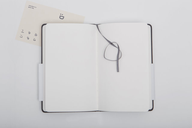 Blank bookmark diary empty notebook