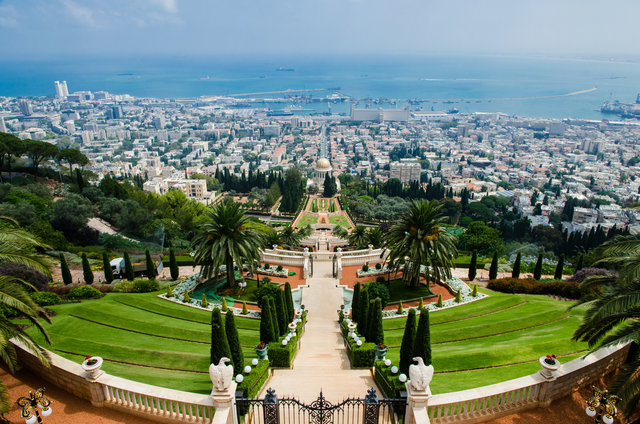 Architecture bahai gardens buildings city cityscape