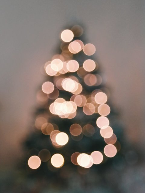 Blurred bokeh christmas christmas lights christmas tree