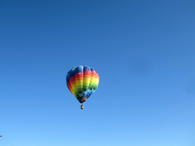 Adventure air balloon blue sky bright