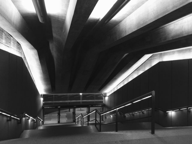 Architecture art black and white building ceiling