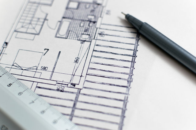 Architectural design architecture blueprint business composition