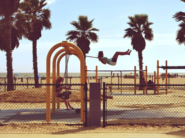 Beach beach park california fun fun time