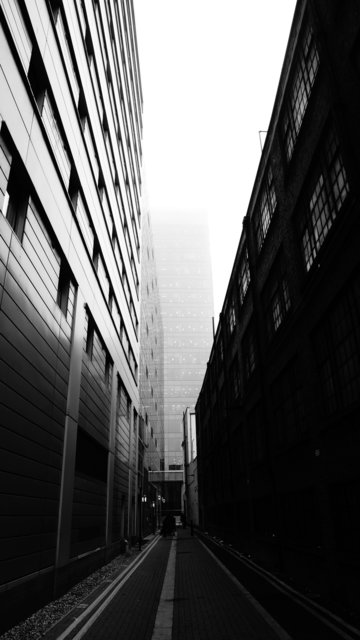 Alley architecture black and white building business