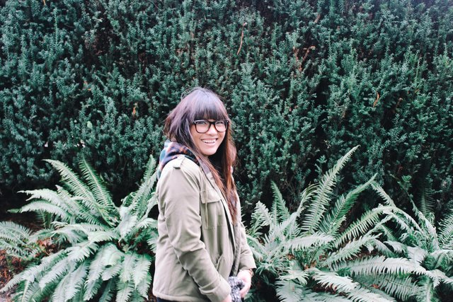 Bangs beautiful eyeglasses fern garden