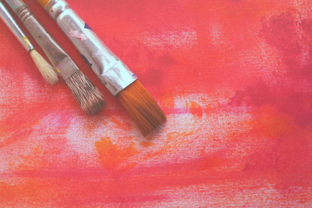 Abstract art artistic brush canvas