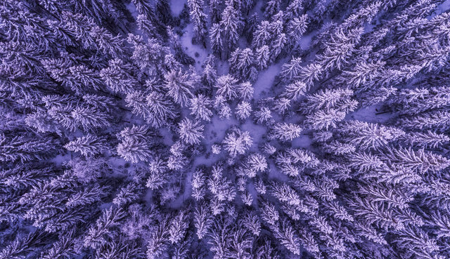 Above abstract aerial background cold