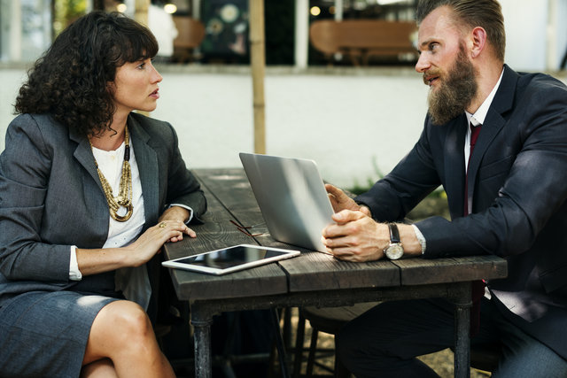 Agreement beard brainstorming business communication