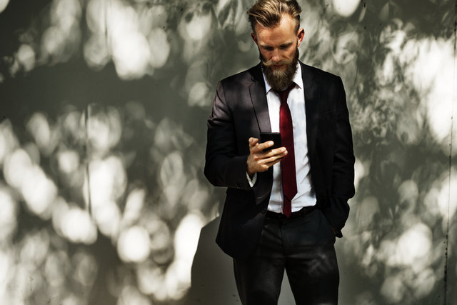 Beard businessman corporate fashion fine looking