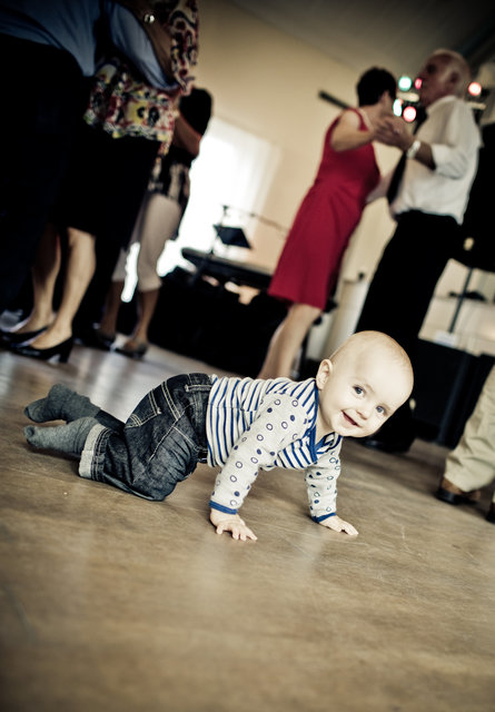 Adult baby business child crawling