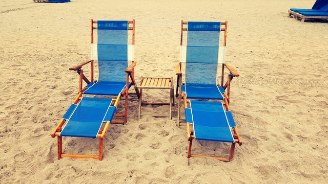 Beach beach chairs blue chairs hot