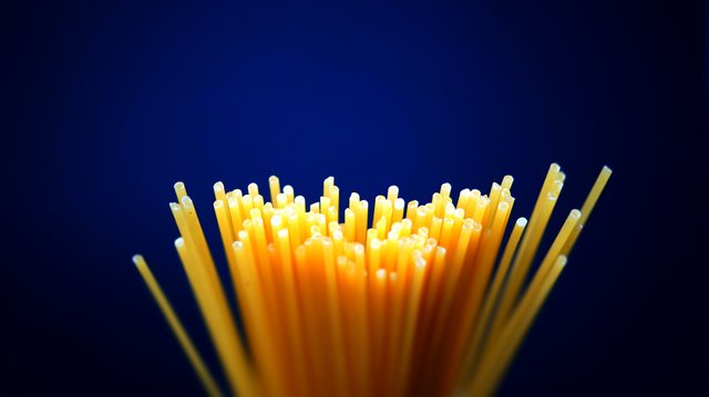 Depth of field food pasta uncooked