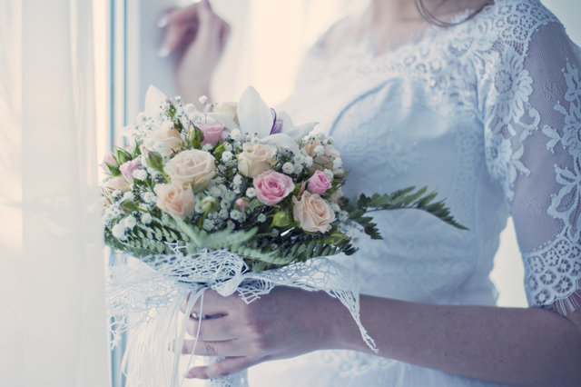 Beautiful blooming bouquet bridal bride