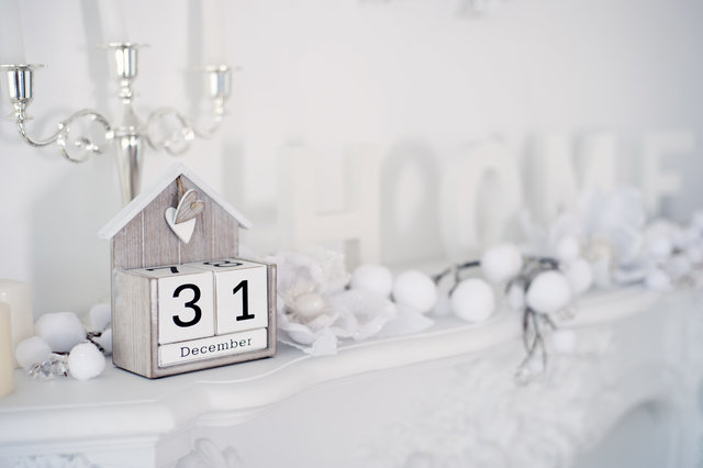 Blur calendar close up december decoration