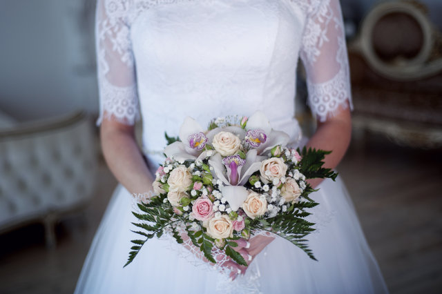 Beautiful blur bouquet bridal bride