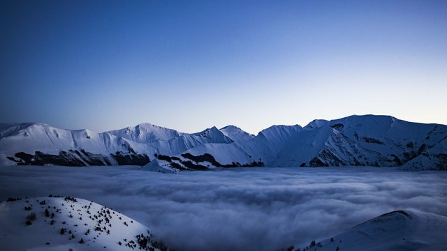 Adventure altitude clouds cold frosty