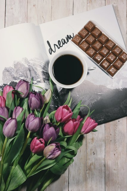 Background black coffee bouquet chocolate coffee