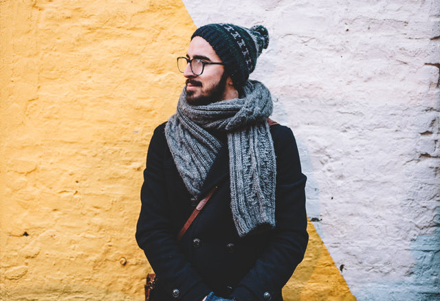 Adult beanie beard coat cold
