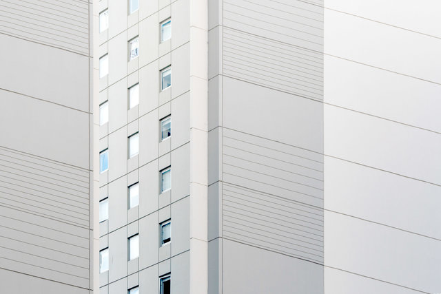 Apartment architecture building contemporary facade