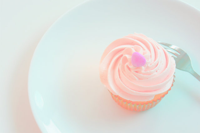 Bright colors cream creamy cupcake