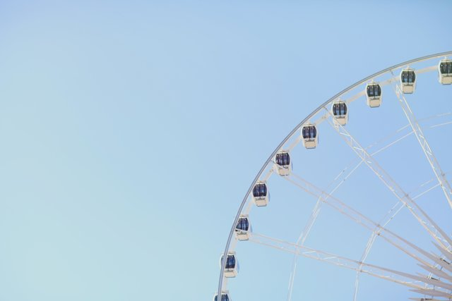 Amusement park carnival ferris wheel high outdoors