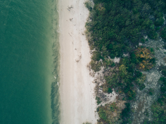 Aerial beach daylight drone landscape