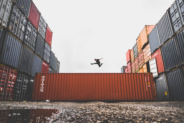 Business commerce container export freedom