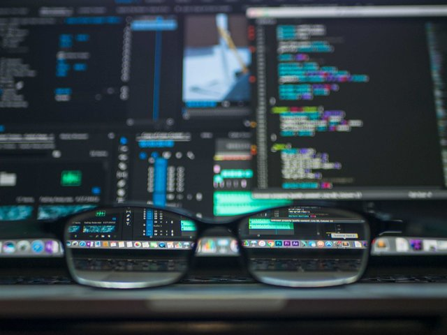 Coding computer data depth of field eyeglasses