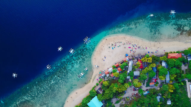 Aerial asia beach bird s eye view cebu