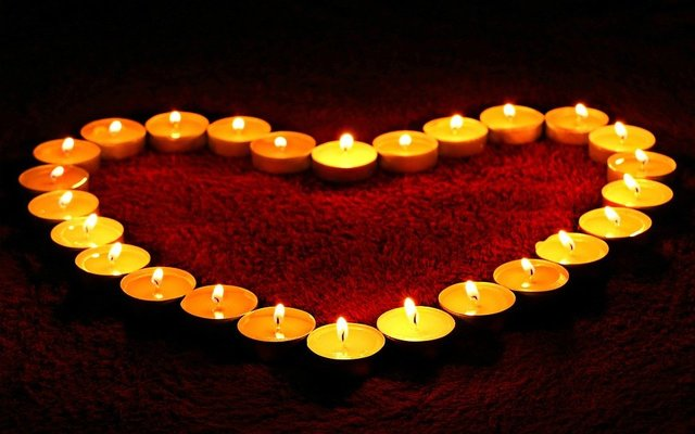 Heart candle candle light light love