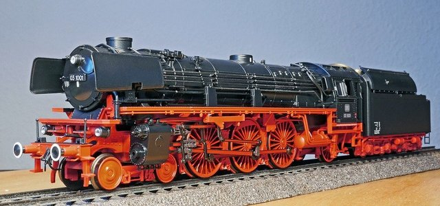 Steam locomotive model br 03 10 express train