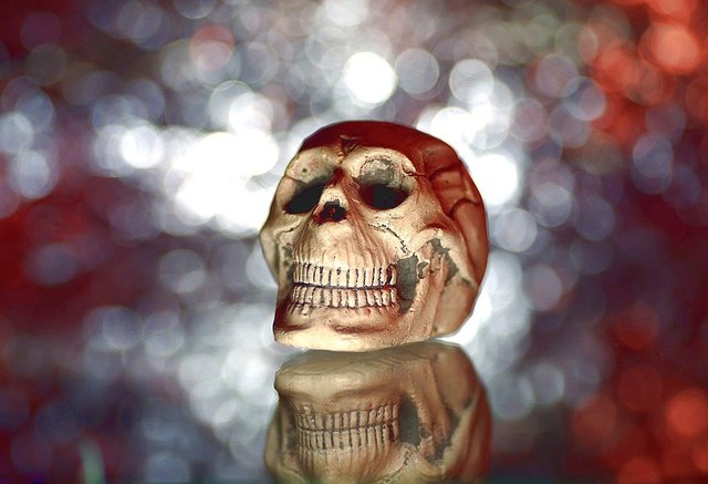 Ornaments fun skull a strange horror movie