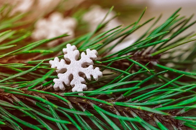 Christmas background snowflake star decoration