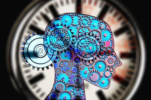 Movement work clock gears face
