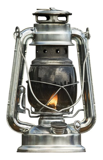 Kerosene lamp lamp old wire mesh light