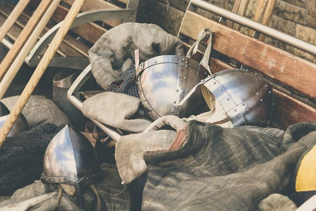 Armour knight vintage metal old