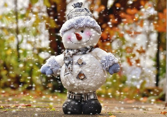 Snow man figure snow christmas decoration