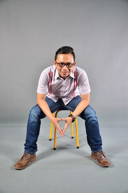 Indonesian pose studio man gentleman