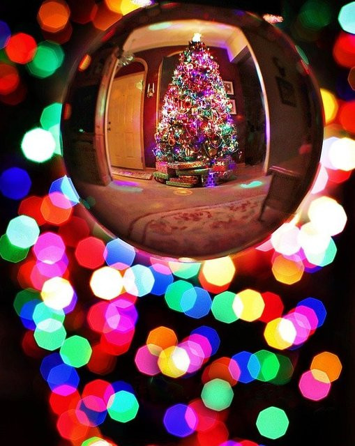 Christmas crystal ball christmas tree bulb