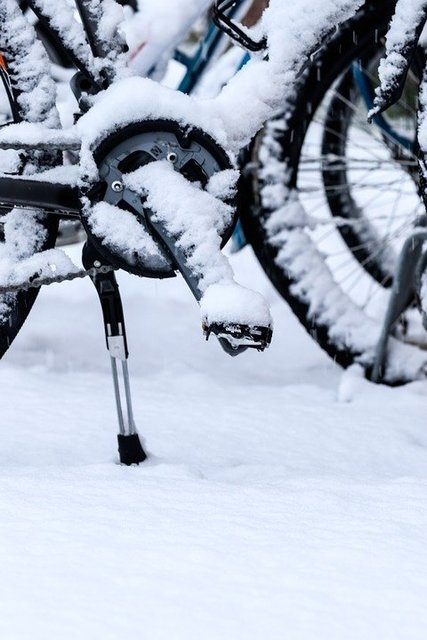 Wheel winter snow bike bicycle