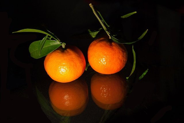 Tangerines tropical fruit fruit sweet healthy