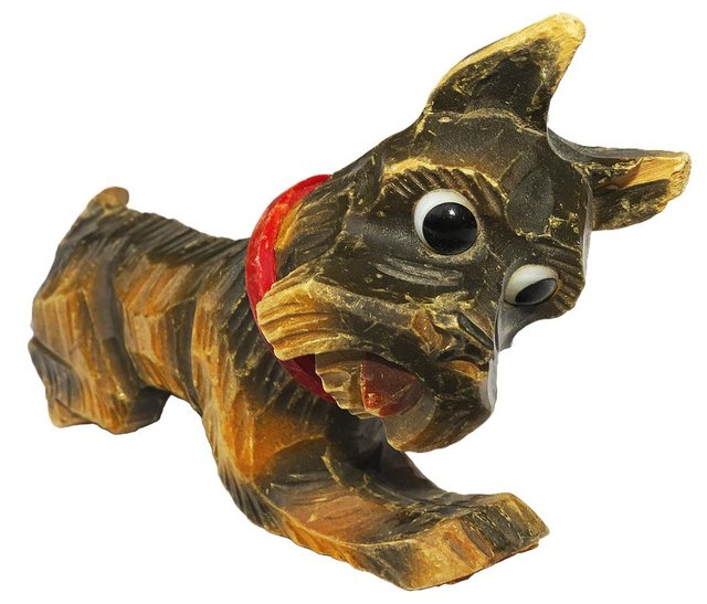 Dog holzfigur animal figure figure wood