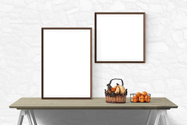 Poster mockup wall template presentation