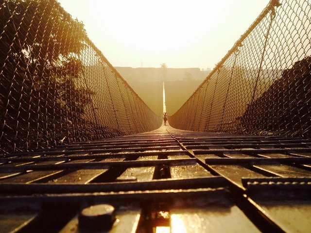 Pokhara suspension bridge tourism landscape nepal