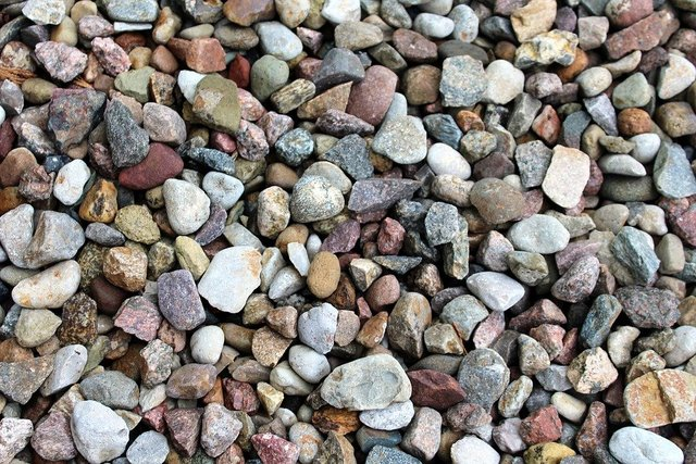 Pebbles colorful texture the background gardening