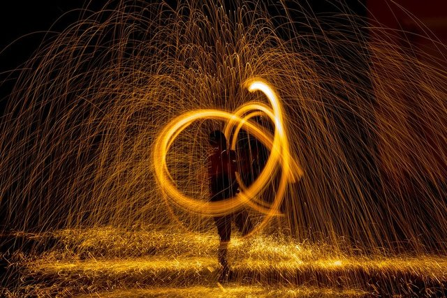 Fire radio night show steel wool