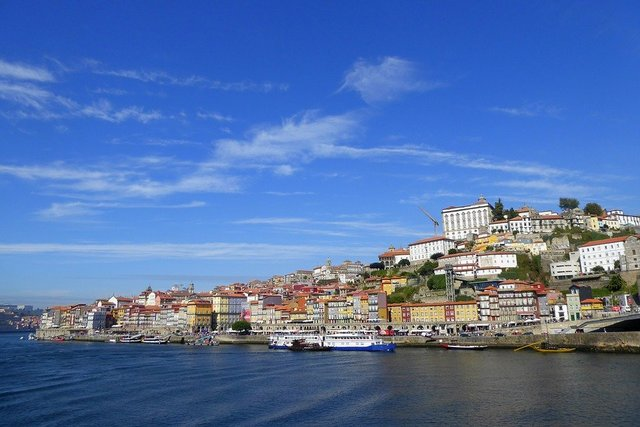 Porto panorama old town sky summer