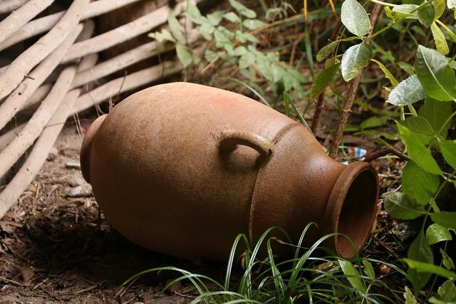 Vase lying outdoors decoration symbol
